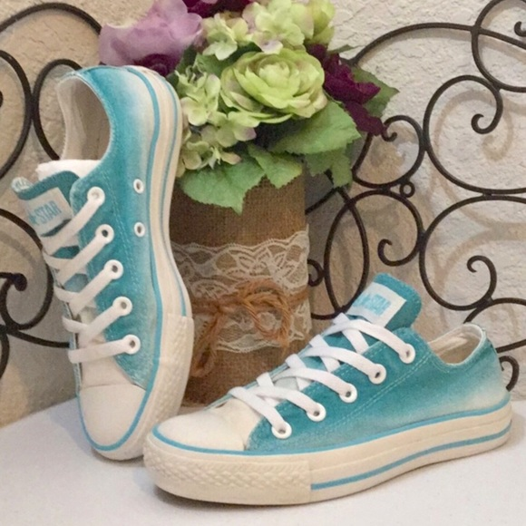 Converse Shoes - CONVERSE ALL⭐️STAR Ombré Seafoam Low Tops 55a9814cb